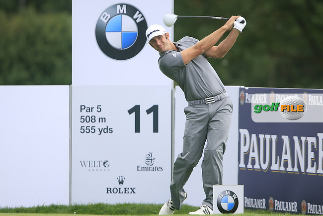 Dustin Johnson (USA) tees off on the 11th tee during Day 2 of the BMW International Open at Golf Club Munchen Eichenried, Germany, 24th June 2011 (Photo Eoin Clarke/www.golffile.ie)