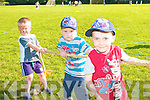 Cahill White and Conor and Darren Breen competing in the Tug of War at the Ballymac GAA Family Fun Day at the Ballymac grounds on Sunday.