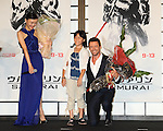 Rila Fukushima, Hugh Jackman, Aug 28, 2013 : Actor Hugh Jackman, actress Rila Fukushima attend 'The Wolverine' Japan Premiere at the Roppongi Hills on August 28, 2013 in Tokyo, Japan