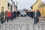 Dan Keane Funeral : The guard of honour by members of Listowel Writers Week & Comholtas Ceoiltori Eireann at the funeral of North Kerry poet dan Keane on Saturday afternoon in Moyvane.