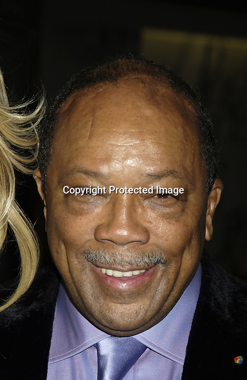 """Quincy Jones ..arriving at the Broadway opening of """"The Color Purple"""" ..produced by Oprah Winfrey on December 1, 2005 ..at The Broadway Theatre...Photo by Robin Platzer, Twin Images"""