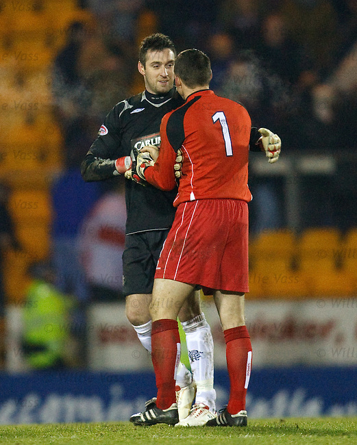 Allan McGregor commiserates with Alan Main