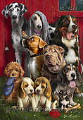 Interlitho-Marcello, REALISTIC ANIMALS, REALISTISCHE TIERE, ANIMALES REALISTICOS, paintings+++++,dogs,KL4516,#a#, EVERYDAY ,puzzles ,dogs