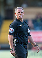 Referee Brendan Malone during the Sky Bet League 2 match between Wycombe Wanderers and Accrington Stanley at Adams Park, High Wycombe, England on 16 August 2016. Photo by Andy Rowland.