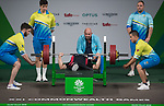 Wales Nathan Stephens in action during the Mens Lightweight Powerlifting <br /> <br /> <br /> *This image must be credited to Ian Cook Sportingwales and can only be used in conjunction with this event only*<br /> <br /> 21st Commonwealth Games  -  Day 6 - 10<br /> \04\2018 - Carrara Stadium - Gold Coast City - Australia