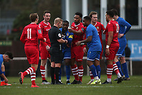 Tempers flare during Hornchurch vs Aveley, Buildbase FA Trophy Football at Hornchurch Stadium on 11th January 2020
