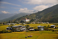 A view of Paro city. Arindam Mukherjee..
