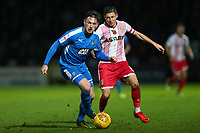 Matt Tootle of Notts County and Harry Beautyman of Stevenage during Stevenage vs Notts County, Sky Bet EFL League 2 Football at the Lamex Stadium on 11th November 2017