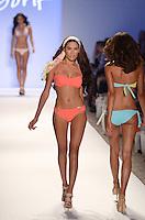 Vanessa Jorge walks runway at Dorit Swimwear Show during Mercedes Benz IMG Fashion Swim Week 2013 at The Raleigh Hotel, Miami Beach, FL on July 23, 2012