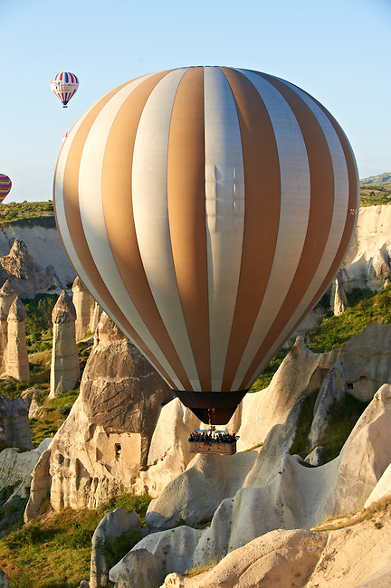 Hot Air Baloons over the Love Valley , Cappadocia Turkey