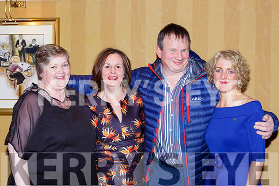 Fiona Doyle Rose O'Donoghue, David O'Sullivan and Sheila Healy at the KIllarney Community College class of 1988 celebrated their 30th anniversary reunion in the Killarney Avenue Hotel on Saturday night