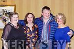 Fiona Doyle Rose O'Donoghue, David O'Sullivan and Sheila Healy at the KIllarney Community College class of 1988 celebrated their 30th anniversary reunion in the Killarney Avenue Hotel on Saturday night