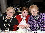Nan Ward, Masie McKenny and Bridie McKenna pictured at the Ferdia Social club annual christmas party in the Hunterstown Inn. Photo: Colin Bell/pressphotos.ie