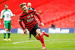LONDON, ENGLAND - MARCH 29: Jay Harris of Wrexham celebrates scoring  his team's second goal against North Ferriby United to make it 0-2 during the FA Carlsberg Trophy Final 2015 at Wembley Stadium on March 29, 2015 in London, England. (Photo by David Horn/EAP)