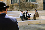 Andrew Holgate being interviewed at Christ Church during the Sunday Times Oxford Literary Festival, UK, 2-10 April 2011. <br />