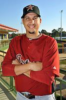 Feb 25, 2010; Kissimmee, FL, USA; The Houston Astros infielder Oswaldo Navarro (69) during photoday at Osceola County Stadium. Mandatory Credit: Tomasso De Rosa / Four Seam Images