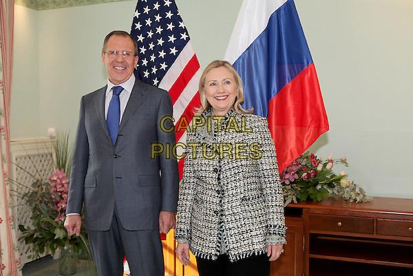 United States Secretary of State Hillary Rodham Clinton meets with Foreign Minister Sergey Lavrov of Russia in Munich, Germany, on February 4, 2012. Photo Credit: State Department/CNP/AdMedia/Capital Pictures