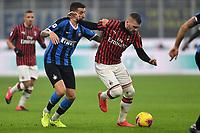 Matias Vecino of FC Internazionale , Ante Rebic of AC Milan <br /> Milano 09/02/2020 Stadio San Siro <br /> Football Serie A 2019/2020 <br /> FC Internazionale - AC Milan <br /> Photo Andrea Staccioli / Insidefoto
