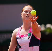 ALISON VAN UYTVANCK (BEL)<br /> <br /> Tennis - French Open 2015 -  Roland Garros - Paris -  ATP-WTA - ITF - 2015  - France <br /> <br /> &copy; AMN IMAGES