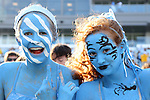 30 August 2014: UNC fans. The University of North Carolina Tar Heels hosted the Liberty University Flames at Kenan Memorial Stadium in Chapel Hill, North Carolina in a 2014 NCAA Division I College Football game.