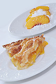 Stock photo of peach pie