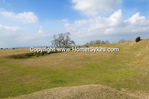 Figsbury Ring, Firsdown, Wiltshire, UK. An Iron Age Hill Fort or a Neolithic Henge monument.