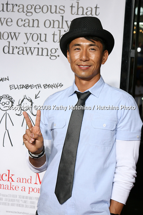 "James Kyson Lee  arriving at the ""Zach & Miri Make a Porno"" premiere  at Grauman's Chinese Theater in Hollywood, CA on.October 20, 2008.©2008 Kathy Hutchins / Hutchins Photo...                ."