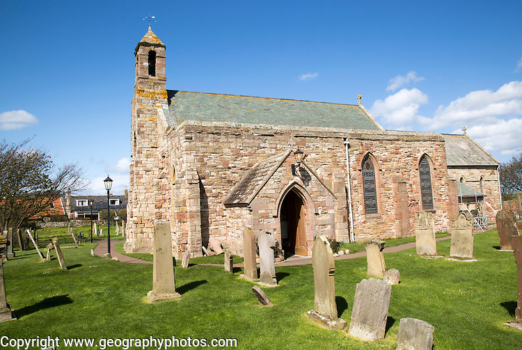 Parish Church of Saint Mary the Virgin, Holy Island, Lindisfarne, Northumberland, England