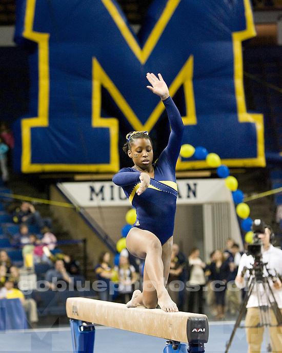 2/19/10 2010 Women's Gymnastics vs. Utah at Crisler Arena.