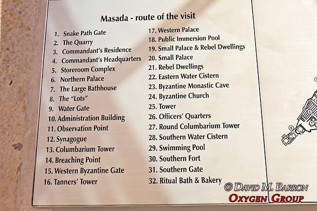 Masada Visit Route