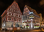 View from the Marktplatz (market square) at night
