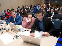 Bill Predmore, Laura Harvey. The NWSL draft was held at the Pennsylvania Convention Center in Philadelphia, PA, on January 17, 2014.