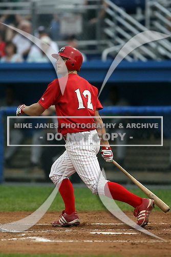 September 15 2008:  Shane Peterson of the Batavia Muckdogs, Class-A affiliate of the St. Louis Cardinals, during a game at Dwyer Stadium in Batavia, NY.  Photo by:  Mike Janes/Four Seam Images