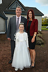 09/05/2015 - Mornington Communion – Clodagh Keavey Smyth and her parents Fran and Helena. Picture: www.newsfile.ie