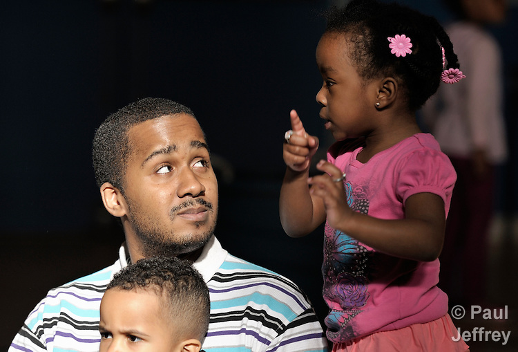 Teacher Francois Pierre works with young children in the child development center of the the United Methodist Community House in Grand Rapids, Michigan. The UMCH has long been supported by United Methodist Women.