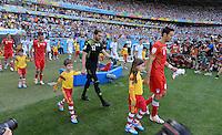 FUSSBALL WM 2014  VORRUNDE    GRUPPE F     Argentinien - Iran                         21.06.2014 Die Mannschaft vom Iran beim einlaufen