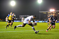 Semesa Rokoduguni of Bath Rugby runs in a second half try. Aviva Premiership match, between Newcastle Falcons and Bath Rugby on January 6, 2017 at Kingston Park in Newcastle upon Tyne, England. Photo by: Patrick Khachfe / Onside Images