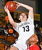 Jenna Annecchiarico #13 of Baldwin draws a foul during the Nassau County varsity girls basketball Class AA semifinals against Freeport at LIU Post on Saturday, Feb. 25, 2017. Baldwin won by a score of 54-36.