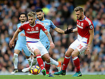 Adam Clayton of Middlesbrough during the Premier League match at the Etihad Stadium, Manchester. Picture date: November 5th, 2016. Pic Simon Bellis/Sportimage