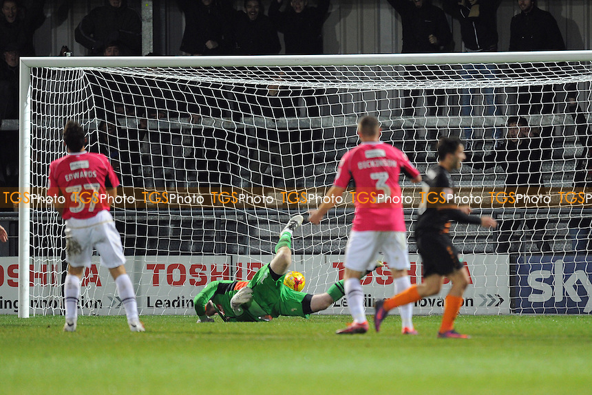 Barnet's Luke Gambin scores his team's second goal during Barnet vs Notts County, Sky Bet EFL League 2 Football at the Hive Stadium on 26th November 2016