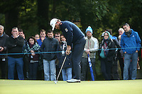 Graeme McDowell (NIR) in putting action during the Final Round of the British Masters 2015 supported by SkySports played on the Marquess Course at Woburn Golf Club, Little Brickhill, Milton Keynes, England.  11/10/2015. Picture: Golffile | David Lloyd<br /> <br /> All photos usage must carry mandatory copyright credit (© Golffile | David Lloyd)