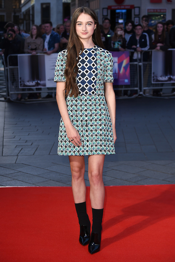 "Raffey Cassidy<br /> arriving for the London Film Festival 2017 screening of ""Killing of a Sacred Deer"" at Odeon Leicester Square, London<br /> <br /> <br /> ©Ash Knotek  D3332  12/10/2017"