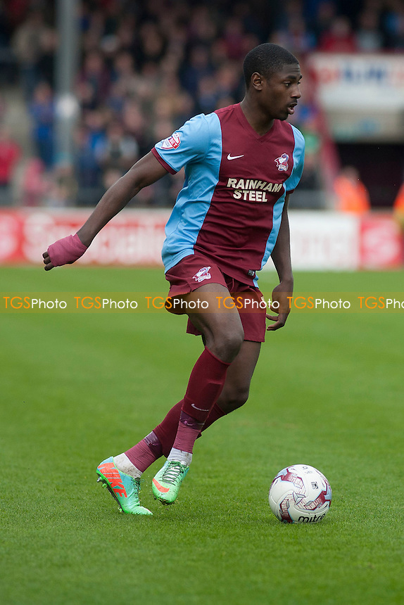 Hakeeb Adelakun of Scunthorpe United<br />  - Scunthorpe United vs Gillingham - Sky Bet League One Football at Glanford Park, Scunthorpe, Lincolnshire - 25/04/15 - MANDATORY CREDIT: Mark Hodsman/TGSPHOTO - Self billing applies where appropriate - contact@tgsphoto.co.uk - NO UNPAID USE