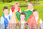 Joseph and his Technicolor coat kids from the Killarney Stage School presentation of ENCORE in the Malton Hotel, Killarney on 6th and 7th of May l-r: David Shaw, Patrick Wrenn, David Quane, James McAulliffe and Mark O'Shea