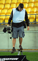 Photographer Mark Tantrum in action during the Mitre 10 Cup rugby union match between Wellington Lions and Bay Of Plenty Steamers at Westpac Stadium, Wellington, New Zealand on Friday, 16 September 2016. Photo: Dave Lintott / lintottphoto.co.nz