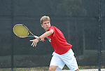 April 25, 2012; San Diego, CA, USA; Gonzaga Bulldogs athlete Olivier Jami during the WCC Tennis Championships at the Barnes Tennis Center.