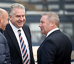 Rangers CEO Graham Wallace chatting to Ally McCoist