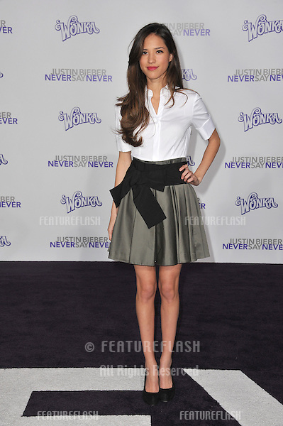 "Kelsey Chow at the Los Angeles premiere of ""Justin Bieber: Never Say Never"" at the Nokia Theatre LA Live..February 8, 2011  Los Angeles, CA.Picture: Paul Smith / Featureflash"