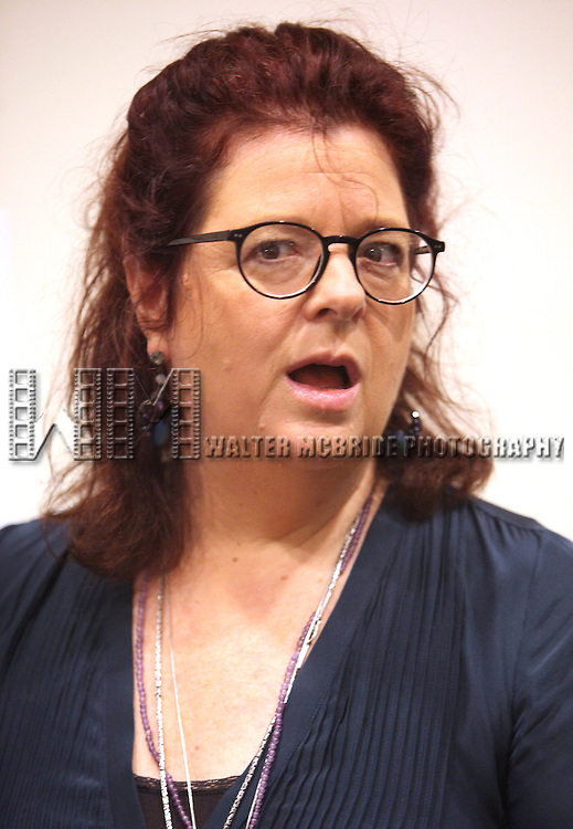 Theresa Rebeck.attending the New Broadway Production 'Seminar' Meet & Greet at the Foxwoods Rehearsal Studioa in New York City.