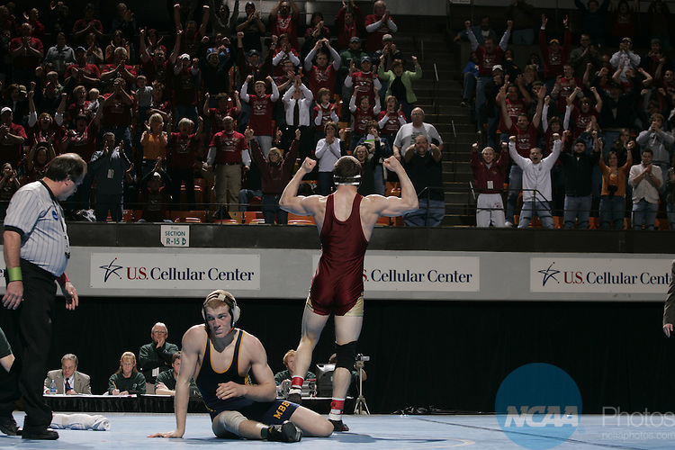 2008 MAR 08: Athletes participate during the 2008 NCAA Division III Wrestling Championships at the U.S. Cellular Center in Cedar Rapids, IA. Trevor Brown, Jr./NCAA Photos.